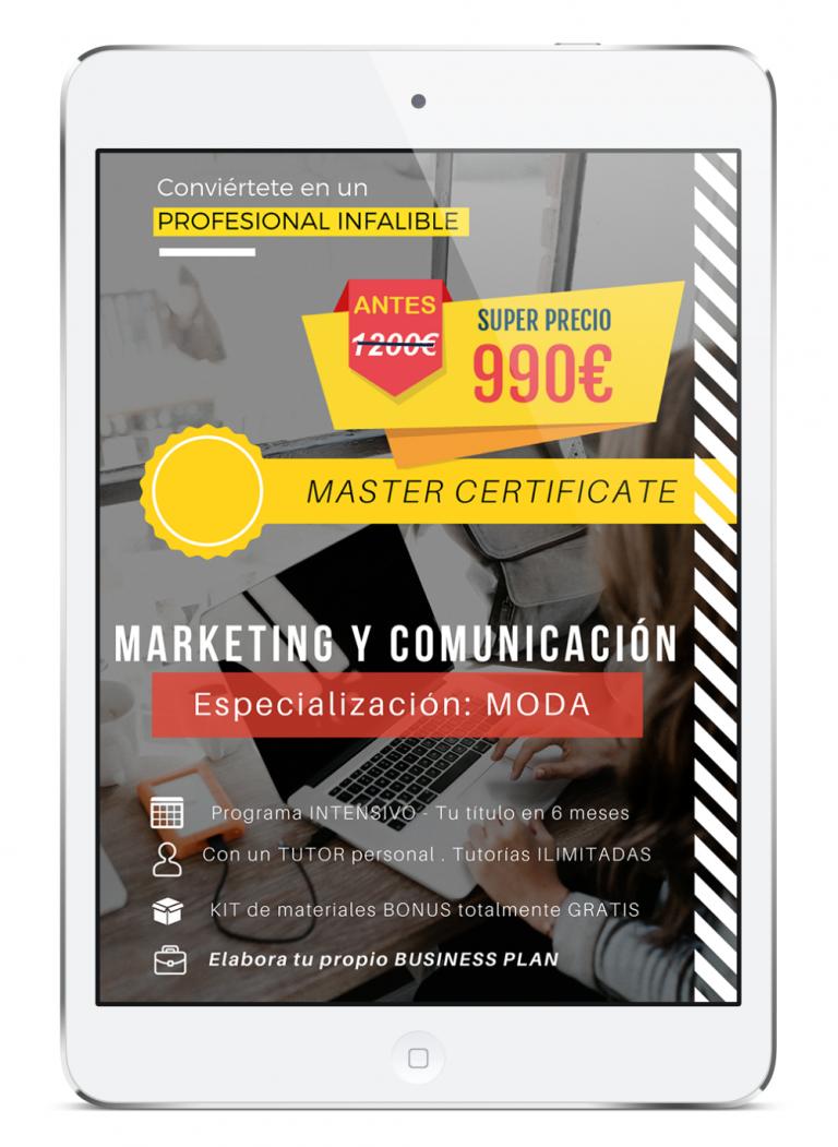 Master en Marketing y Comunicación de Moda